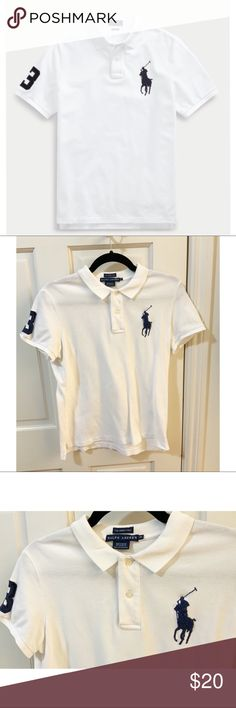 5a6cab7f5 Lg Classic polo that is timeless. Big iconic emblem on front w  rugby  number on the side. Polo by Ralph Lauren Tops