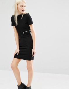 Cheap+Monday+High+Neck+Cropped+Top+With+Zip+Detail