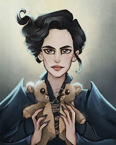 Miss Peregrine and the teddy bear
