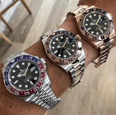 In some cases part of that image is the quantity of money you invested to use a watch with a name like Rolex on it; it is no secret how much watches like that can cost. Bracelet Cuir, Bracelet Watch, Cool Watches, Watches For Men, Popular Watches, Swiss Army Watches, Rolex Gmt Master, Expensive Watches, Seiko Watches
