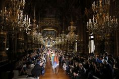 Models present creations by Stella McCartney during the 2016 Spring/Summer ready-to-wear collection fashion show, on October 5th, 2015 in Paris. Photograph: Patrick Kovarik/AFP/Getty