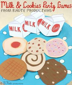 bnute productions: Milk and Cookies Party Games + Free Printable Game