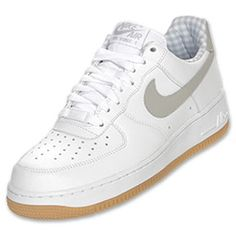 Style: 315122 169    Nike Men's Air Force 1 Low Basketball Shoes -- White/Tech Grey