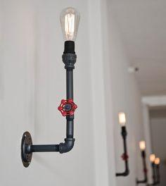 Industrial Pipe Vintage Valve Metal Sconce Light - modern - wall sconces - san francisco - Hammers & Heels