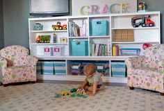 Ana White | Build a Toy Storage Hutch with Cubbies and Shelves | Free and Easy DIY Project and Furniture Plans
