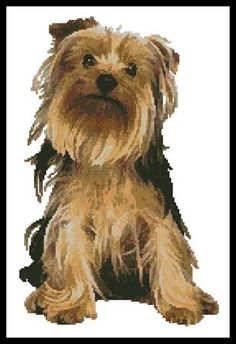 """Yorkshire Terrier"" by Artecy Cross Stitch"