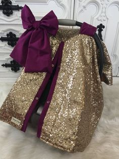 Items similar to CAR SEAT COVER / car seat canopy / nursing cover / carseat cover / carseat canopy / ooak / sequin / infant car seat cover / gold / sparkle on Etsy My Baby Girl, Our Baby, Baby Baby, Baby Girls, Fashion Kids, Girl Fashion, Baby Must Haves, Everything Baby, Baby Needs