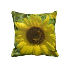 Gold Sunflower Pillow $63.95.
