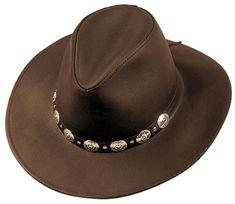 MADE in the USA Henschel Hats DUDE Chocolate Dakota Leather Western Cowboy  Hat (eBay Link 22fc192eec24
