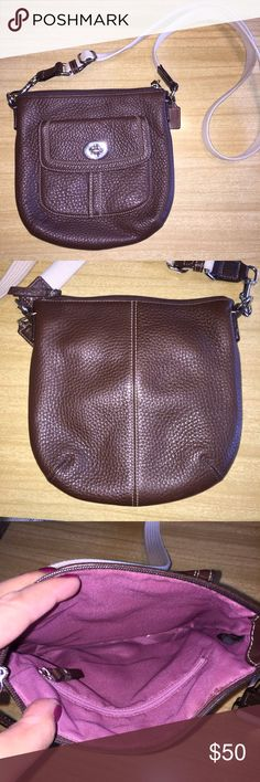 Coach leather Crossbody Authentic pebbles leather Crossbody. Gently used. Coach Bags