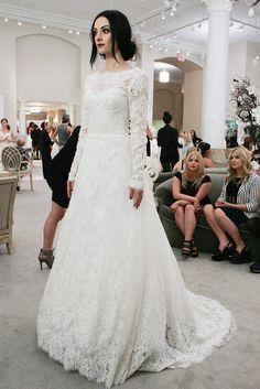 """Emily's 1st lace dress: """"Catherine"""" by Monique Lhuillier"""