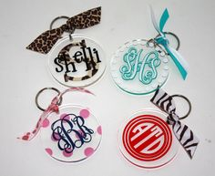 Monogram/Personalized Acrylic Key Chain - Sorority, College, Teacher Gift Do with shrinks-dinks Silhouette Vinyl, Silhouette Cameo Projects, Silhouette Design, Laser Cnc, Acrylic Keychains, Vinyl Gifts, Teacher Gifts, Teacher Party, Cricut Creations