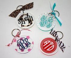 Monogram/Personalized Acrylic Key chain