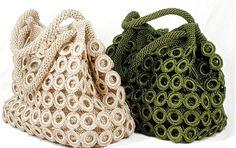 Handmade Women yarn knitted bag