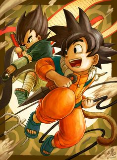 This is the cutest cross over of DBZ & Naruto I have ever seen.
