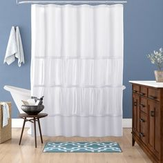 HooklessR Escape 71 Inch X 86 Long Fabric Shower Curtain And Liner Set In Grey