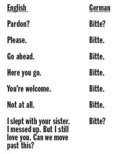 Lektion 4: One word to rule zem all: BITTE.