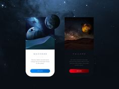 Daily UI 011 - Flash Message (Planet Probing), including a success and failure message after probing planets for precious materials.   Thanks for watching !