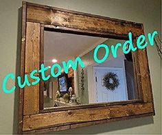 """24"""" x 48"""" Custom Sized Herringbone Style Mirror by Renewed Decor, available in 20 colors"""