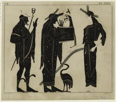 [Apollo playing the cithara, with Hermes and Athena.] Hermes usually depicted…