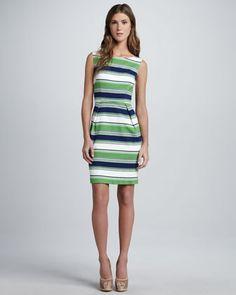 Spectator Striped Sleeveless Dress by Trina Turk at Neiman Marcus.