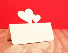 Wedding Place Cards Double Heart Set of 100
