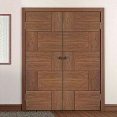 31 New Ideas flush door design colour Main Entrance Door Design, Wooden Main Door Design, Double Door Design, Front Door Design, Flush Door Design, Door Design Interior, Custom Wood Doors, Wooden Doors, Wooden Windows