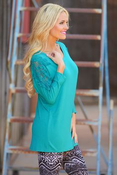 10% OFF with code REPLAUREN at checkout + free, fast US shipping || Crochet My Way Tunic - Jade from Closet Candy Boutique