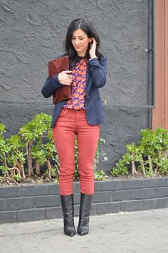 Discover this look wearing Brick Red Rag & Bone Jeans, Black Giuseppe Zanotti Boots, Navy Zara Blazers - These Boots Were Made for Walkin' by AVintageSplendor styled for Chic, Museum Outing Giuseppe Zanotti Boots, Zara Blazer, Cool Style, My Style, Professional Women, Cool Outfits, Black Jeans, Fashion Bloggers, Fashion Tips