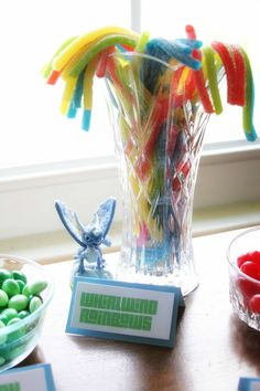 Whirlwind Rainbows, Easy Skylanders Birthday Party, Candy Bar, Party Favor, by @CraftivityD