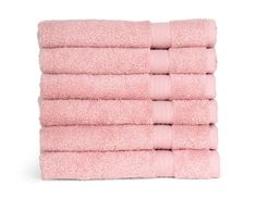 TowelSelections Sunshine Collection Soft Towels 100% Turkish Cotton 6 Hand Towels Powder Pink