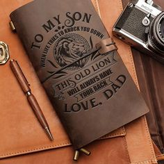 Get your SON a special gift! This is a beautiful refillable leather journal that will stand the test of time. Also make a Great Birthday, Anniversary
