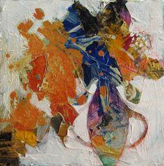Tiny Still Life 1..8x8 inch canvas........judy thorley