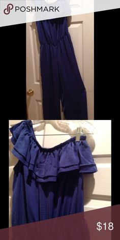 Cute Blue Jumper 100% polyester, machine wash Body Central Pants Jumpsuits & Rompers
