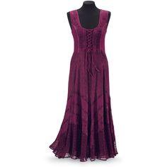 Burgundy Godet Dress - Women's Clothing & Symbolic Jewelry – Sexy, Fantasy, Romantic Fashions Plus Size Dresses, Plus Size Outfits, Long Dresses, Dress Long, Maxi Dresses, Dress Outfits, Fashion Dresses, Pyramid Collection, Mori Girl Fashion