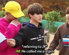 Aawwwee ChimChim ur not trash at all!! Kookie is saying that out of love baby!