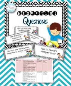 Essential Questions for the Music Classroom--includes 28 essential questions for K-5, a detailed checklist, an editable template, and more!