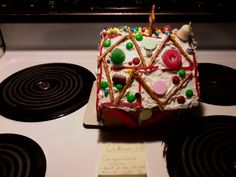 Christmas gingerbread house (view of left side) ~ 2012 ~