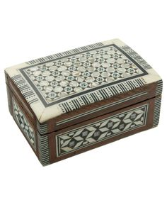 Egyptian Inlaid Mother of Pearl Jewelry Box