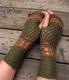 Crochet Fingerless Gloves, Knit Fingerless Gloves, spring gloves, Mittens, woodland knit, Boho Knit Gloves, Arm Warmers, Knitted Gloves,