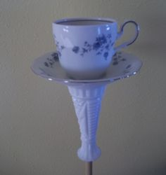 Cup and Saucer Bird Feeder | Cup and Saucer Bird Feeder/Water Dish