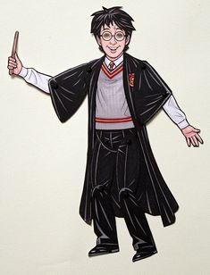 Harry Potter and Hedwig Articulated Paper Doll