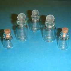 5 Bocaux en verre - 786BV12 1/12ème #maisondepoupées #dollhouse #bocaux #jars #meuble #furniture #miniatures #miniature #verre #glass