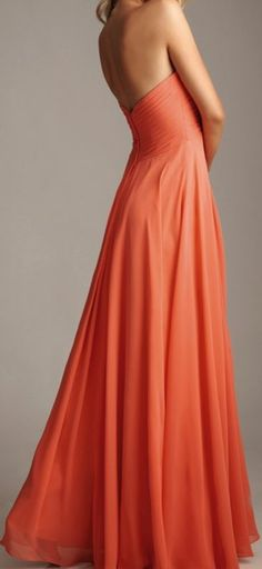 Charming Strapless Chiffon Dress, Long Prom Dresses