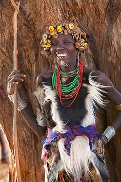 Woman of the Danessech tribe, Omo River Valley, Ethiopia
