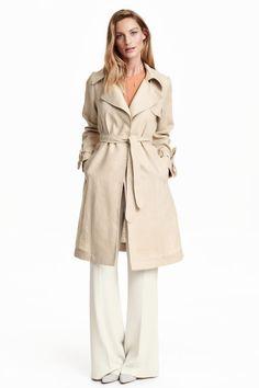 Trench-coat en lin