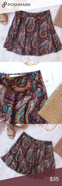 LUSHSilky Navy Paisley Skirt LUSH from NORDSTROM Gorgeous light weight Navy Paisley Skirt. 100% Polyester. Great for spring and summer plus can wear almost any color top with this flowing, silky/satin skirt. Lush Skirts