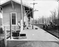 Chesapeake and Ohio Railway, Crozet Train Station Albemarle County from Holsinger Studio Collection · Holsinger's Studio (Charlottesville, Va.) · 1890-1938 · Albert and Shirley Small Special Collections Library, University of Virginia.