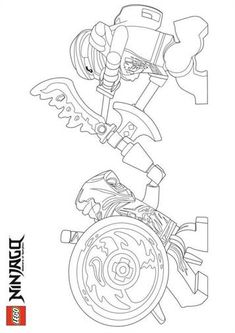 printable coloring page for lego ninjago zane and his ice