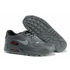 sports shoes 806c6 8a74f Nike Air Max 90 Mens Charcoal Charcoal-Gym Red Shoes Mens Nike Air,